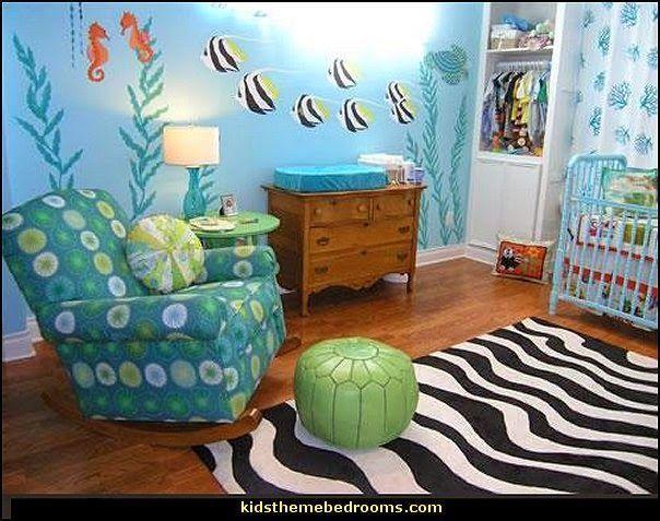 unter dem meer baby schlafzimmer deko ideen ozean thema schlafzimmer strand themen st