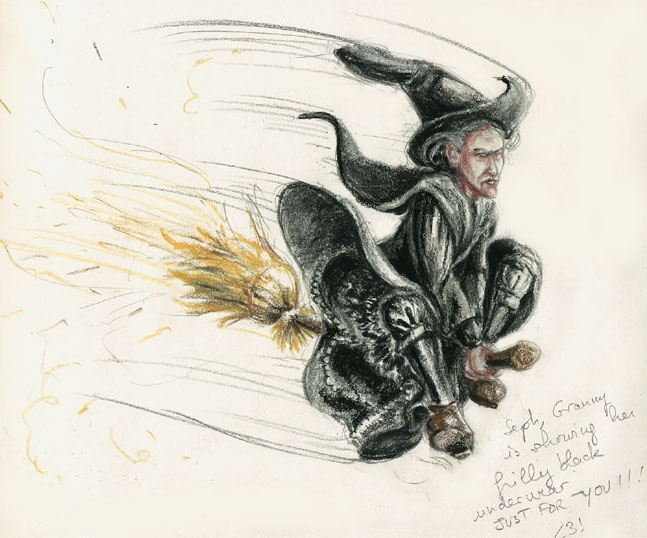 and on another note, | Cool drawings, Terry pratchett