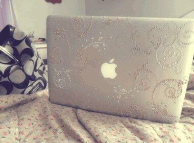 Add Gem And Pearl Stickers To Your Laptop