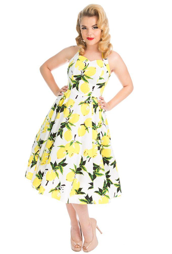 Hearts and Roses London - Hearts & Roses Lemon Print Dress