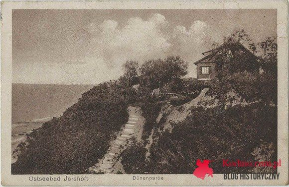 Jarosławiec pocztówka z obiegu wysłana z Lanzing Kr.Schlawe  w 1924 roku. WYDAWNICTWO: Albert Mewes, Rügenwalde 406