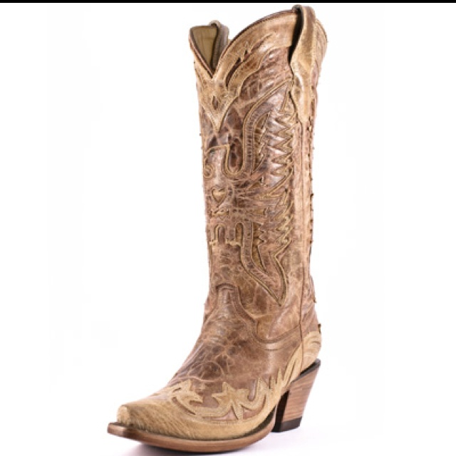 Corral boots distressed and crackled in cognac...<3