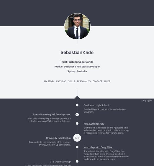 Sumry - a service for hosting an interactive version of your CV