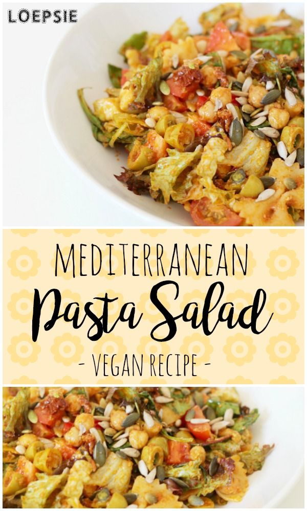 Delicious vegan Mediterranean pasta salad. Perfect to share with friends on a hot summer night :)