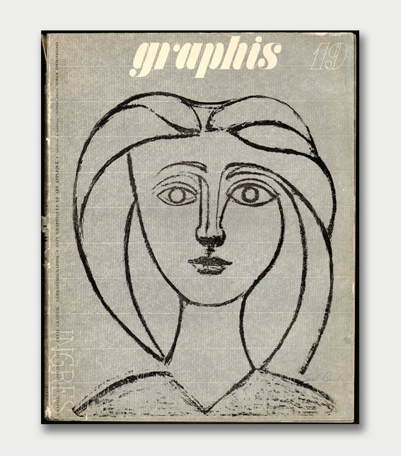 graphis 19 - cover by pablo picasso, 1947Graphics Design Ect, Graphics Art, Art Iii, Influential Design, Graphis 19 1947, Art Picasso, Art Painting, Magazines Covers, Pablo Picasso