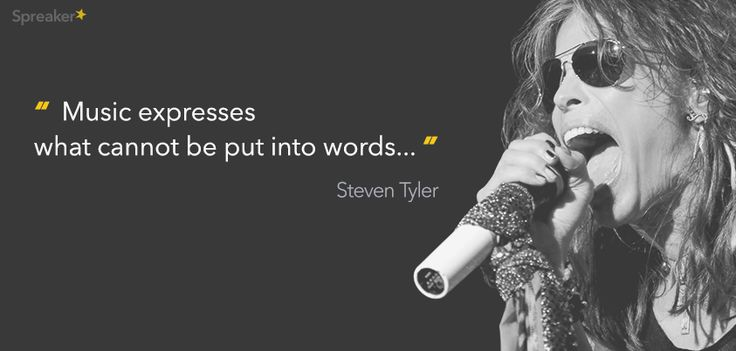 Steven Tyler: music expresses what cannot be put into words