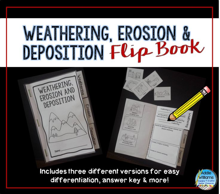 Weathering, Erosion and Deposition Flip Book - a fun and interactive way to learn and review the concepts of weathering and erosion. ($)