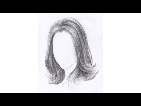 Как рисовать ВОЛОСЫ ДЕВУШКИ карандашом. Урок 66. How to draw a girl's hair pencil - YouTube