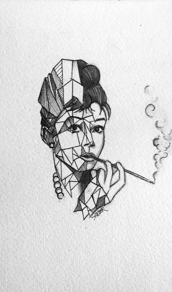 Audrey hepburn tattoo idea, origami