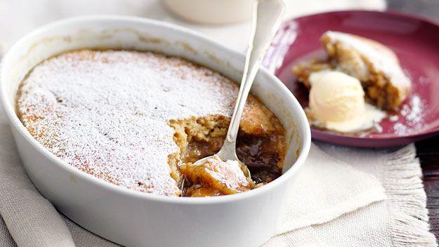 Banana butterscotch self-saucing pudding recipe - 9kitchen