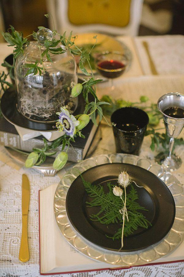 library halloween wedding ideas - Halloween Wedding Table Decorations