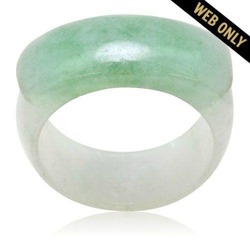 Estate Unisex Jade Lucky Saddle Ring