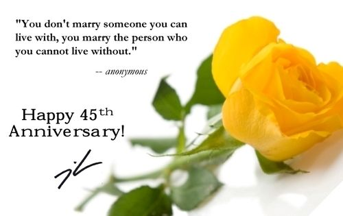 45th Wedding Anniversary | Wedding Anniversary Cards ...