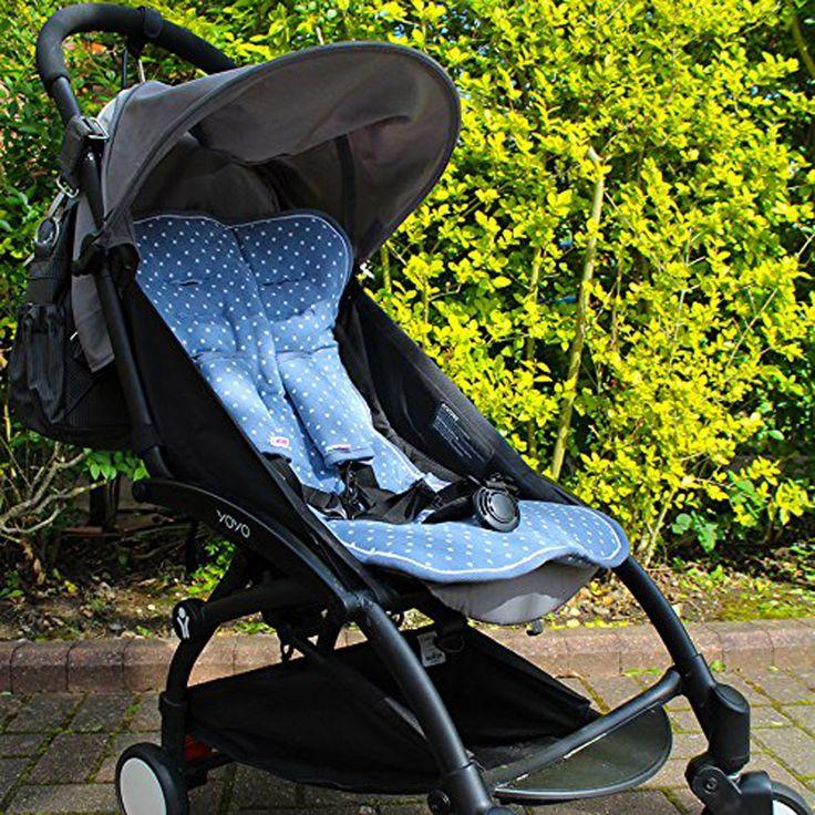 Villa-Sternenstaub   Sitzschoner Set blau mit Sterne   - Material: 100% Baumwolle - passt in alle Modelle! Mit Gurtschlitzen für den 5-Punkt-Gurt ausgestattet. - in Geschenktasche verpackt - Maschinenwäsche