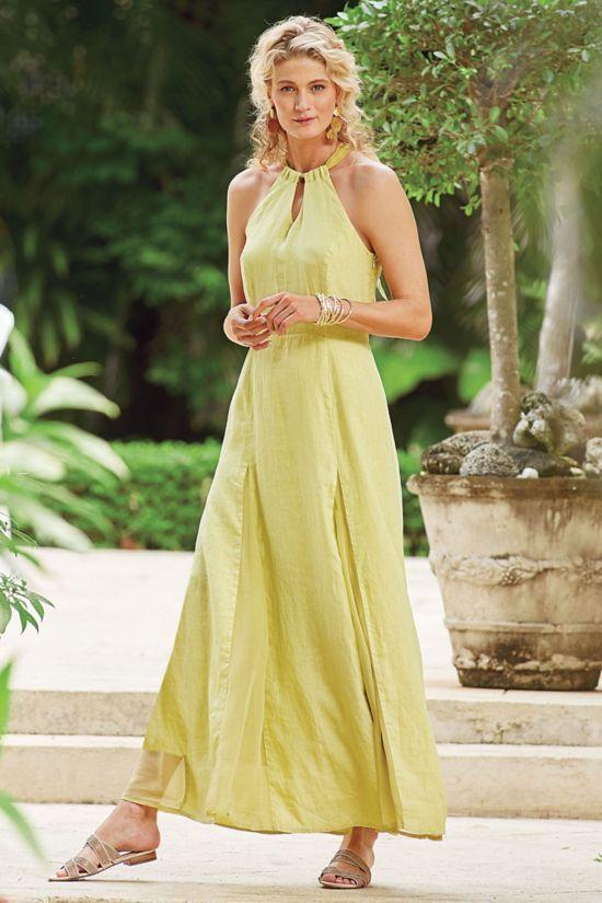a4935e9eb Allegory Linen Dress - Linen Maxi Dress