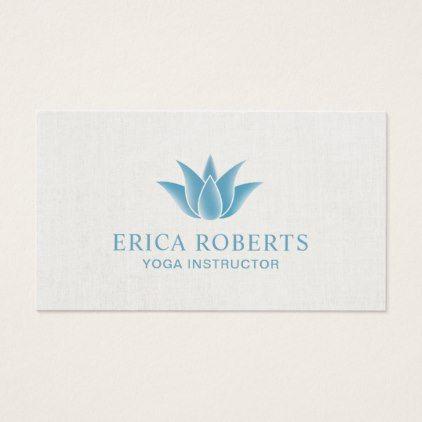 #salon - #Blue Lotus Floral Logo Spa Salon Yoga Instructor Business Card