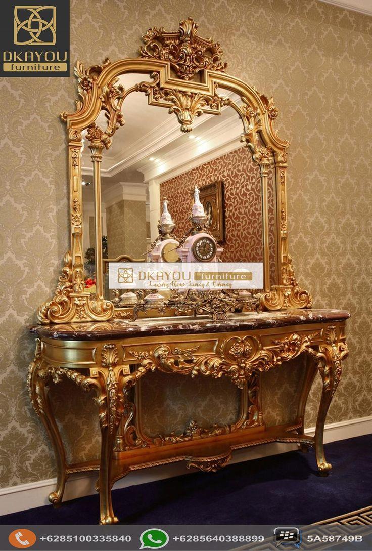 Meja Konsol Mewah French Rococo
