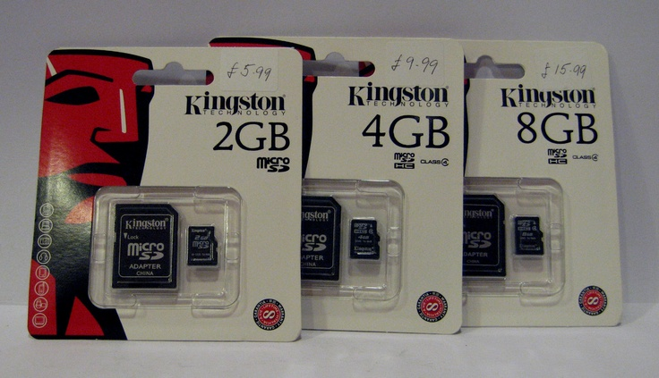 Kingston Technology Micro SD Cards with Adapters 2GB, 4GB, 8GB