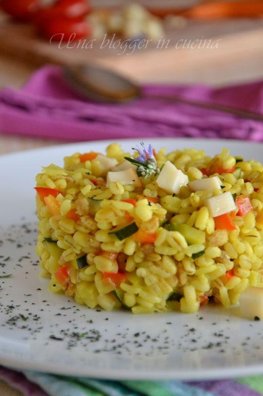 Finto risotto verdure, scamorza e polvere di spinaci