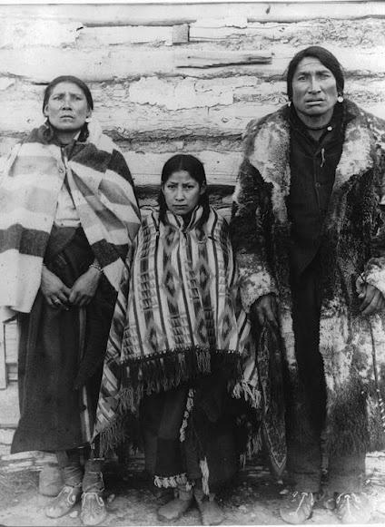 Blackfoot family at Fort MacLeod, Alberta - 1905