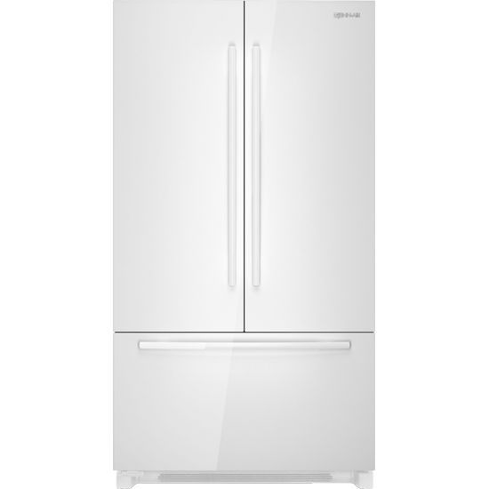 Jenn Air French Door Refrigerator In Floating Glass White
