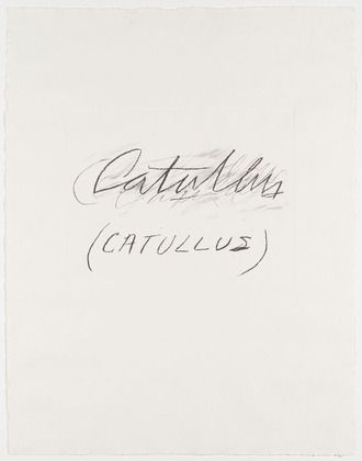 Cy Twombly. Catullus from the portfolio Six Latin Writers and Poets. 1975-1976