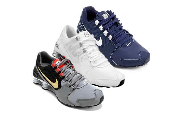 Lista com tênis Nike Shox Avenue com até 38% de desconto na Netshoes. Há modelos masculinos e femininos.