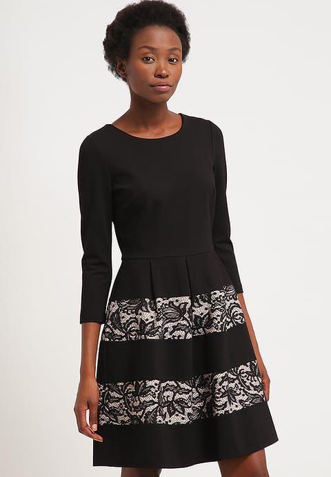 Vestito di maglina - black/nude