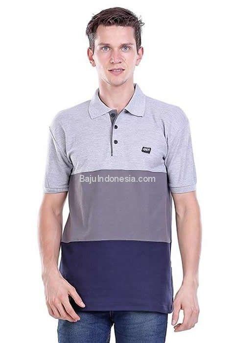 Tshirt pria HRC 18-97 cotton pique abu-abu L-XL. Rp...