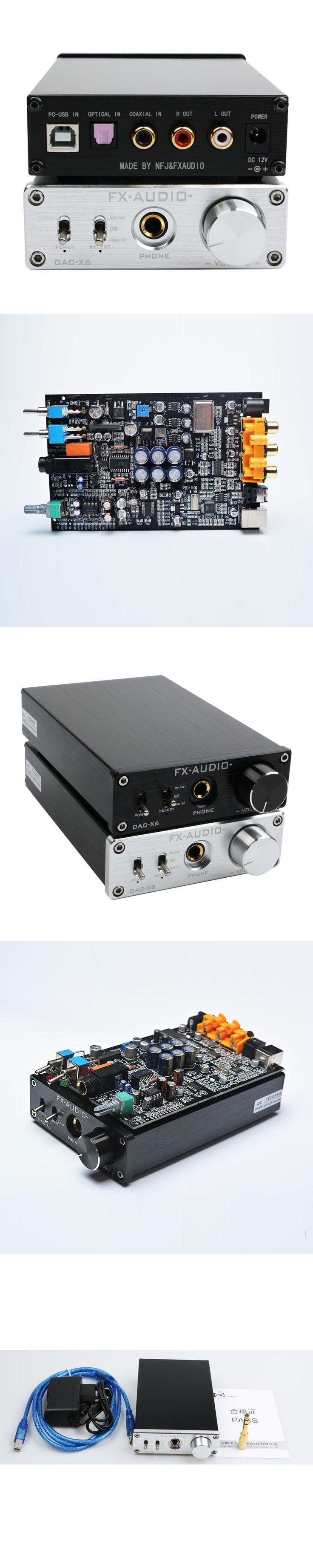 fx-audio feixiang DAC-X6 fever MINI HiFi USB DAC Fiber Coaxial Digital Audio Decoder 16BIT / 192 headphone amplifier amp TPA6120