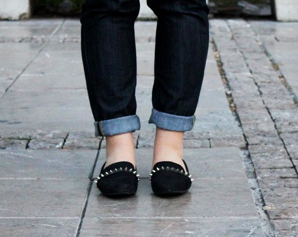 slippers with spikes!
