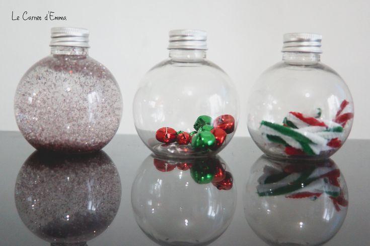 Jour 2 - Des bouteilles sensorielles de Noël - Le Carnet d'Emma