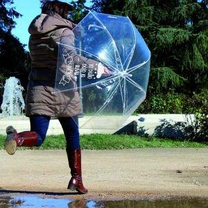 Paraguas con mensajes personalizados
