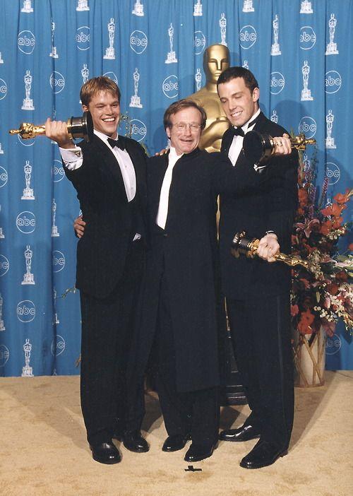 "Robin Williams - Best Supporting Actor Oscar with Matt Damon & Ben Affleck - Best Original Screenplay Oscar for ""Good Will Hunting"""