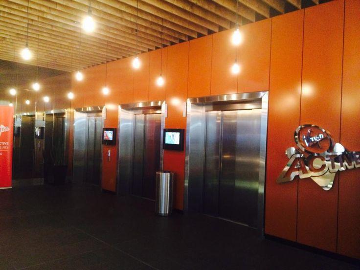 Lift Lobbie walls  Key-Lena with 2 pac poly finish by Keystone acoustics
