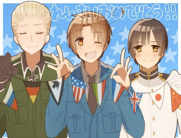 The cute trio: Germany, Italy, & Japan~!