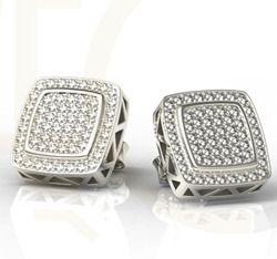 Kolczyki z białego złota z cyrkoniami / Earrings made from white gold with zircons / 1 401 PLN / #jewellery #white_gold #earrings #zircons #bizuteria #kolczyki #cyrkonie