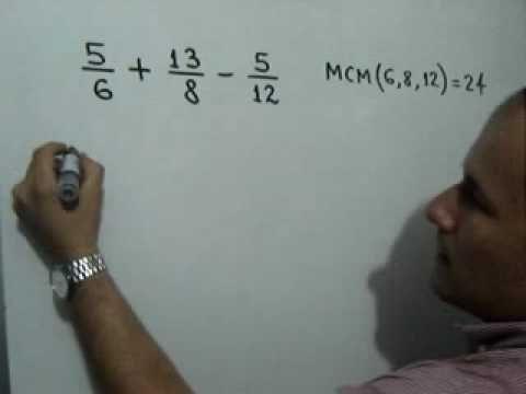 Suma y resta de fracciones heterogeneas (Parte 2 de 2): Julio Rios explica cómo sumar y restar fracciones de distinto denominador (heterogéneas). Parte 2 de 2