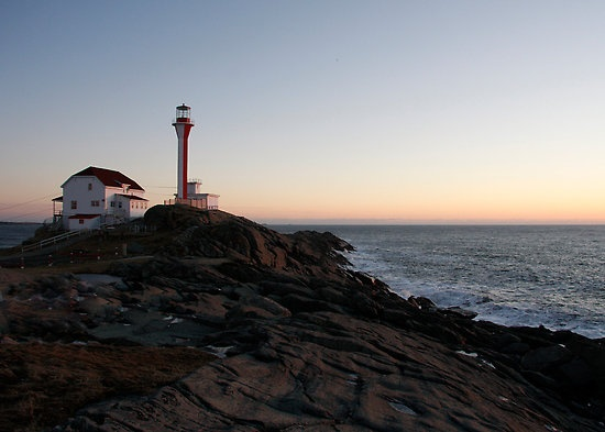 Cape Forchu Lighthouse at Dusk