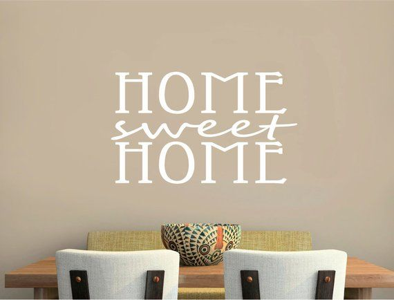 Home Sweet Home Wall Art Sticker Home Wall Quote Sticker Home