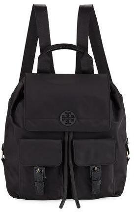 Tory Burch Quinn Nylon Flap Backpack