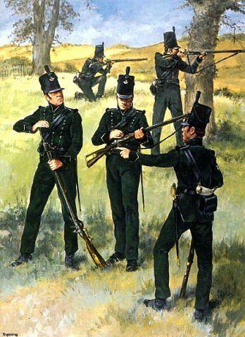 Guerres Napoléoniennes №31 soldat 95e régiment d'infanterie de l'armée britannique, 1812.