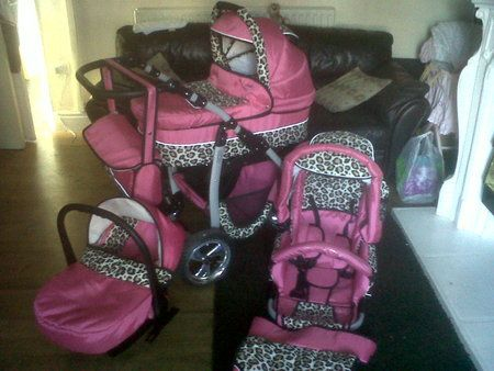 Pink Cheetah Print Baby Car Seat And Stroller Stuff To