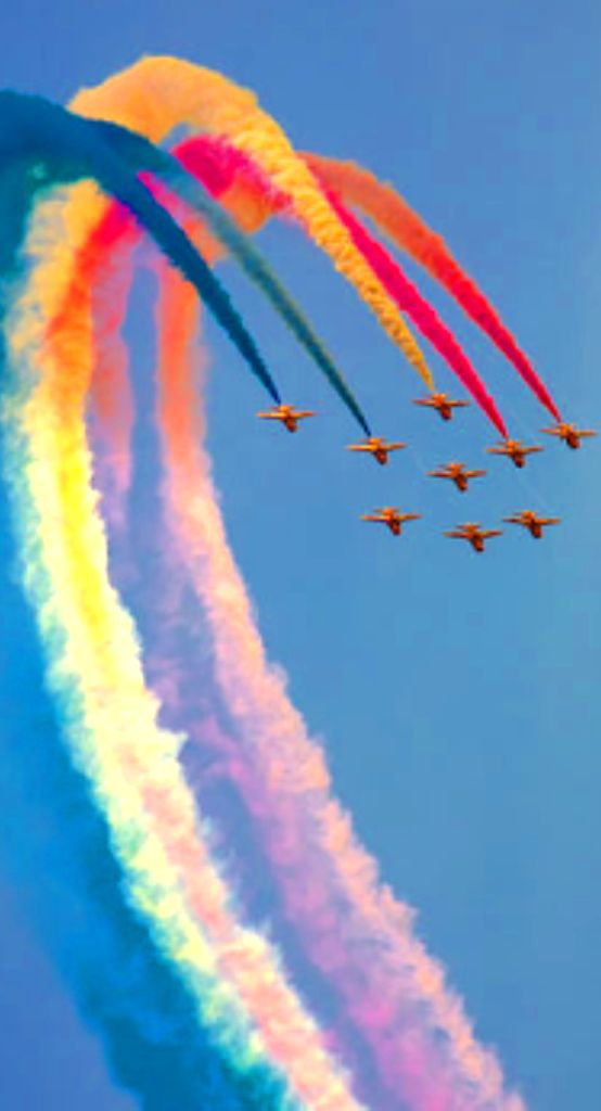 Airplane aerobatic show. ~ MUSE SEE!!!