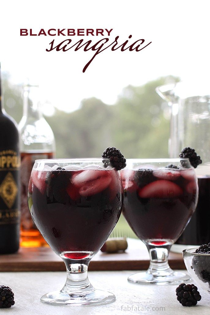 Blackberry Red Wine Sangria Recipe   Red Wine Sangria for Summer