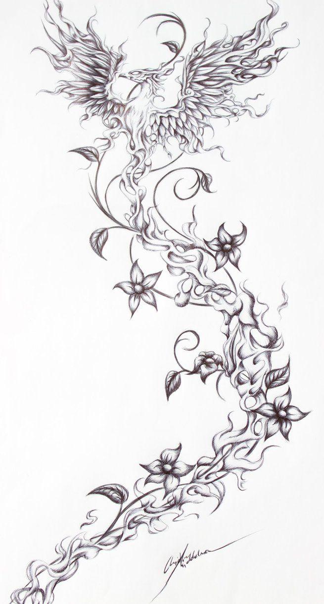 Firebird- Tattoo request from a friend by JenovaTheGoddes