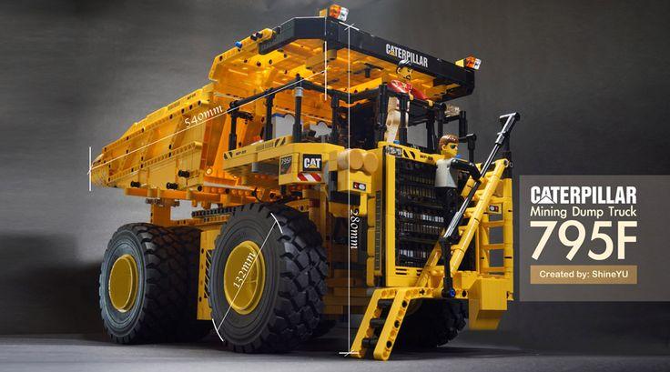 Lego Technic Caterpillar Dump Truck