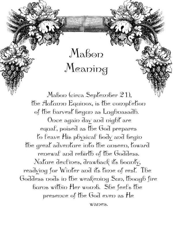 What does Mabon mean?