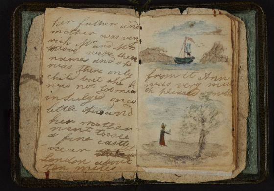 Manuscrito del relato corto ilustrado que Charlotte Brontë hizo en 1826 para su hermana pequeña Anne. / AP PHOTO / THE BRITISH LIBRARY