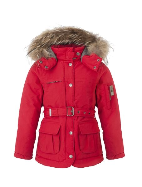 VER de TERRE | Girls jacket w/belt & fur 3-16 yrs
